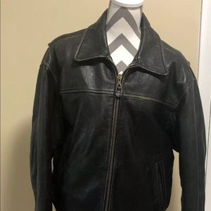 Andrew Marc Vintage Distressed Leather Jacket SZ L